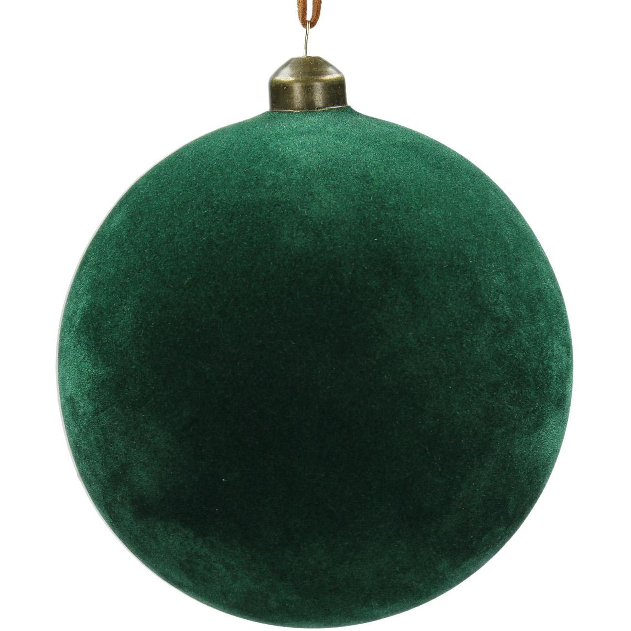 Green Velvet Bauble 12cm - Xmas-20 thumbnail
