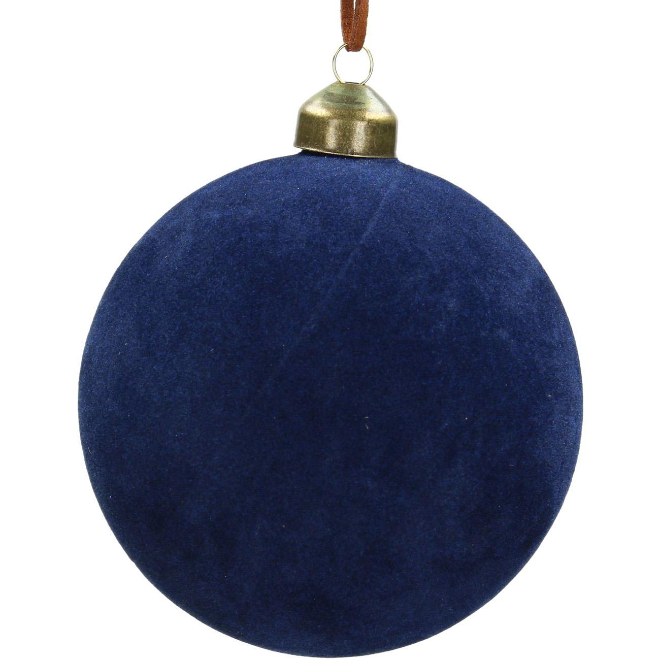 Blue Velvet Bauble 10cm - Xmas-20 thumbnail