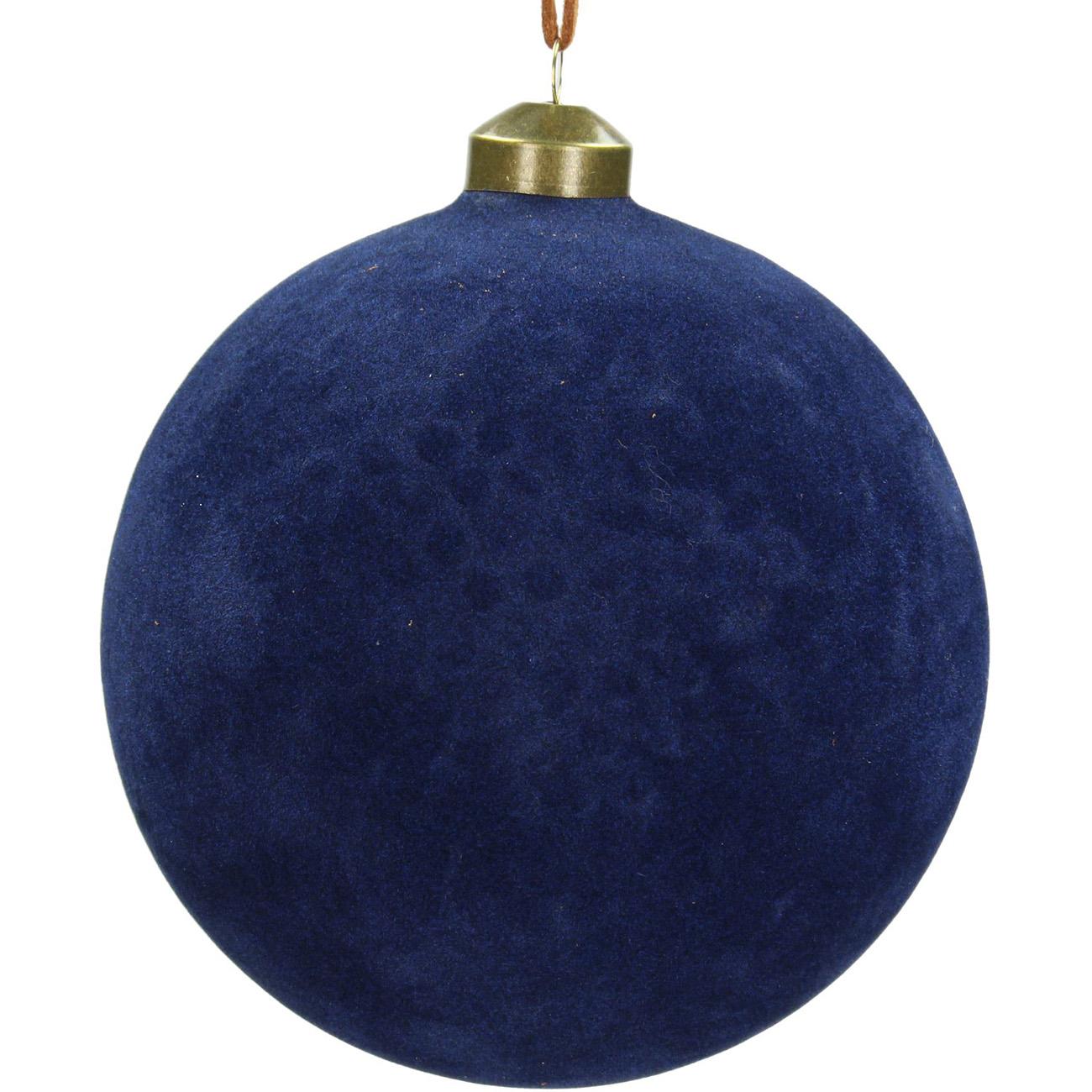 Blue Velvet Bauble 12cm - Xmas-20 thumbnail