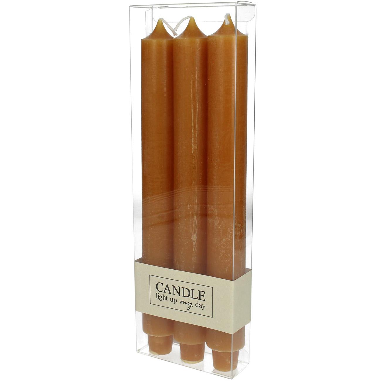 Orange Set of 3 Dinner Candles - Xmas-20 thumbnail