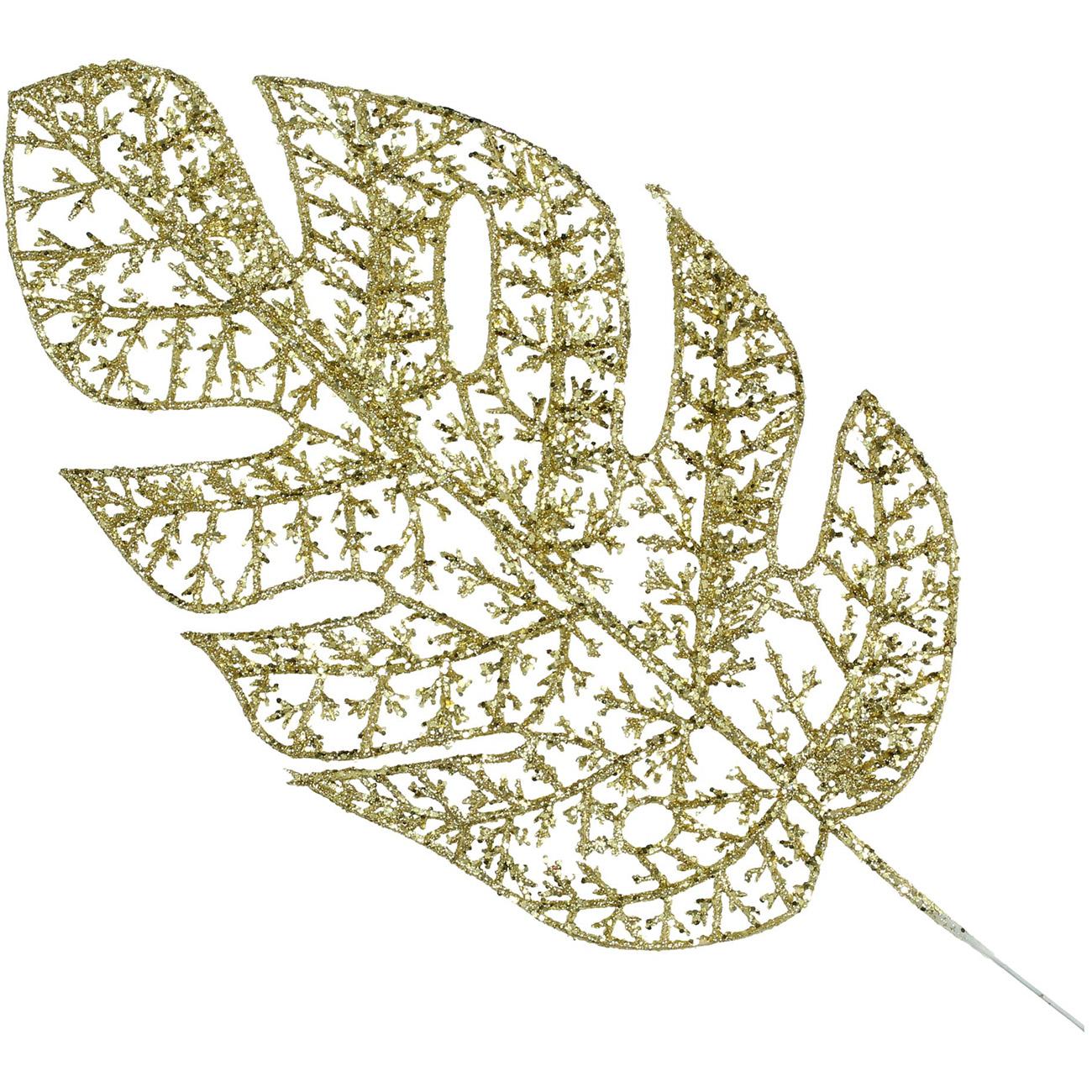 Gold Leaf Ornament 34cm - Xmas-20 thumbnail