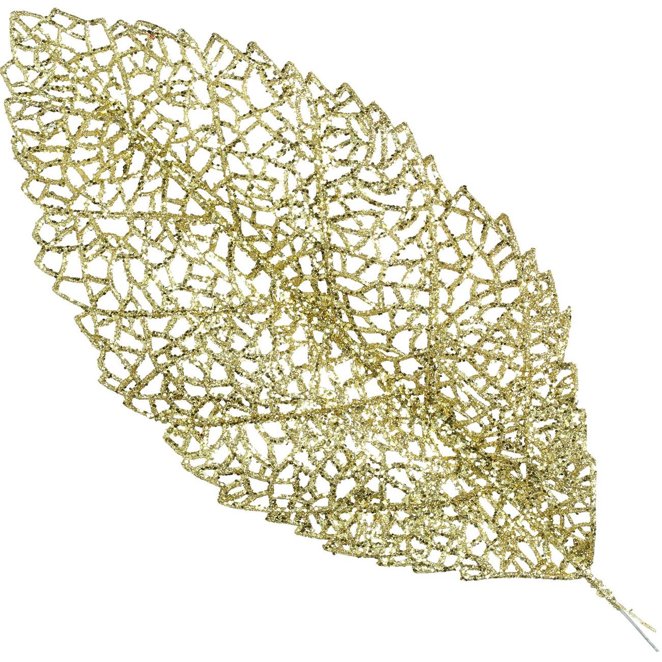 Gold Fine Leaf Ornament 44cm - Xmas-20 thumbnail