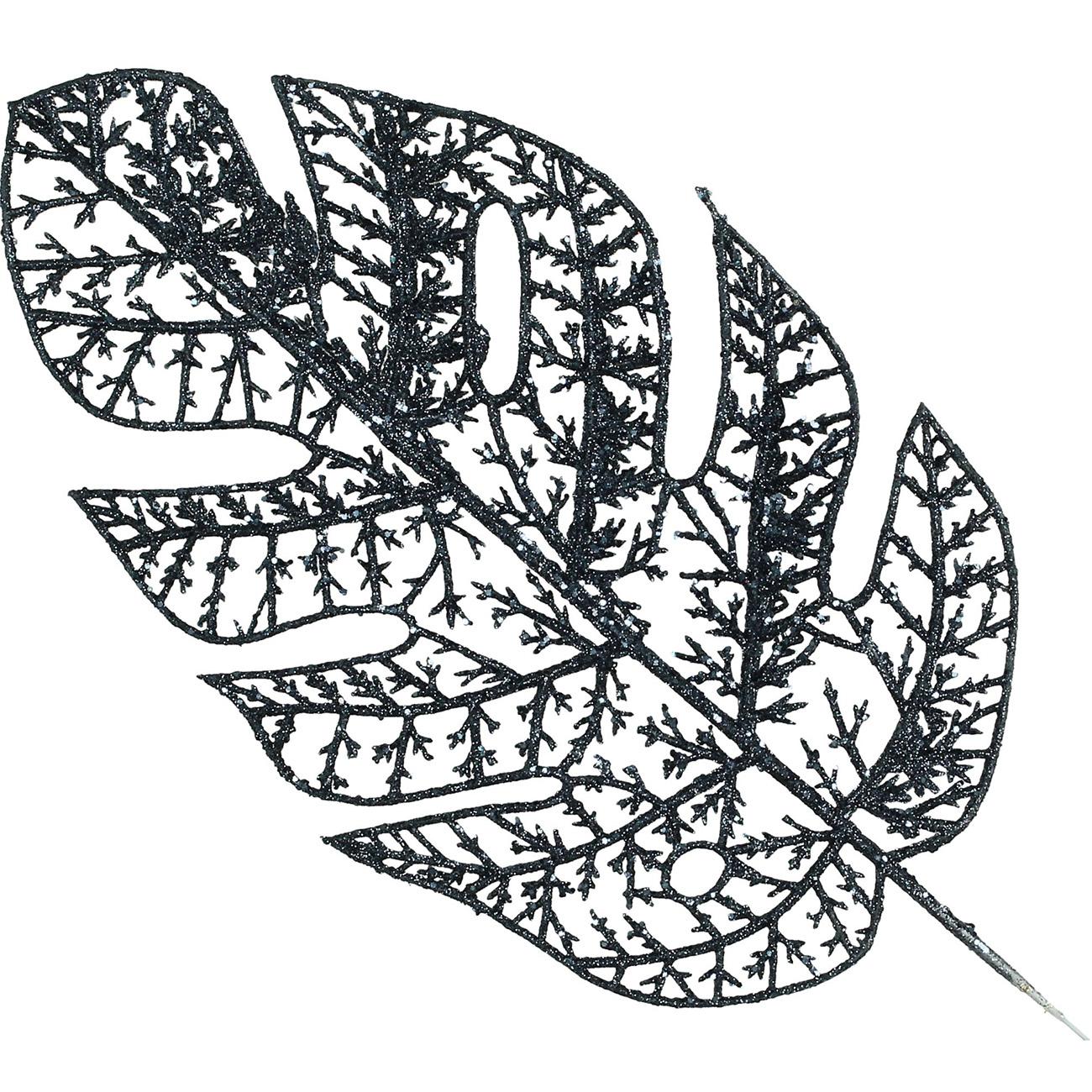 Blue Leaf Ornament 34cm - Xmas-20 thumbnail