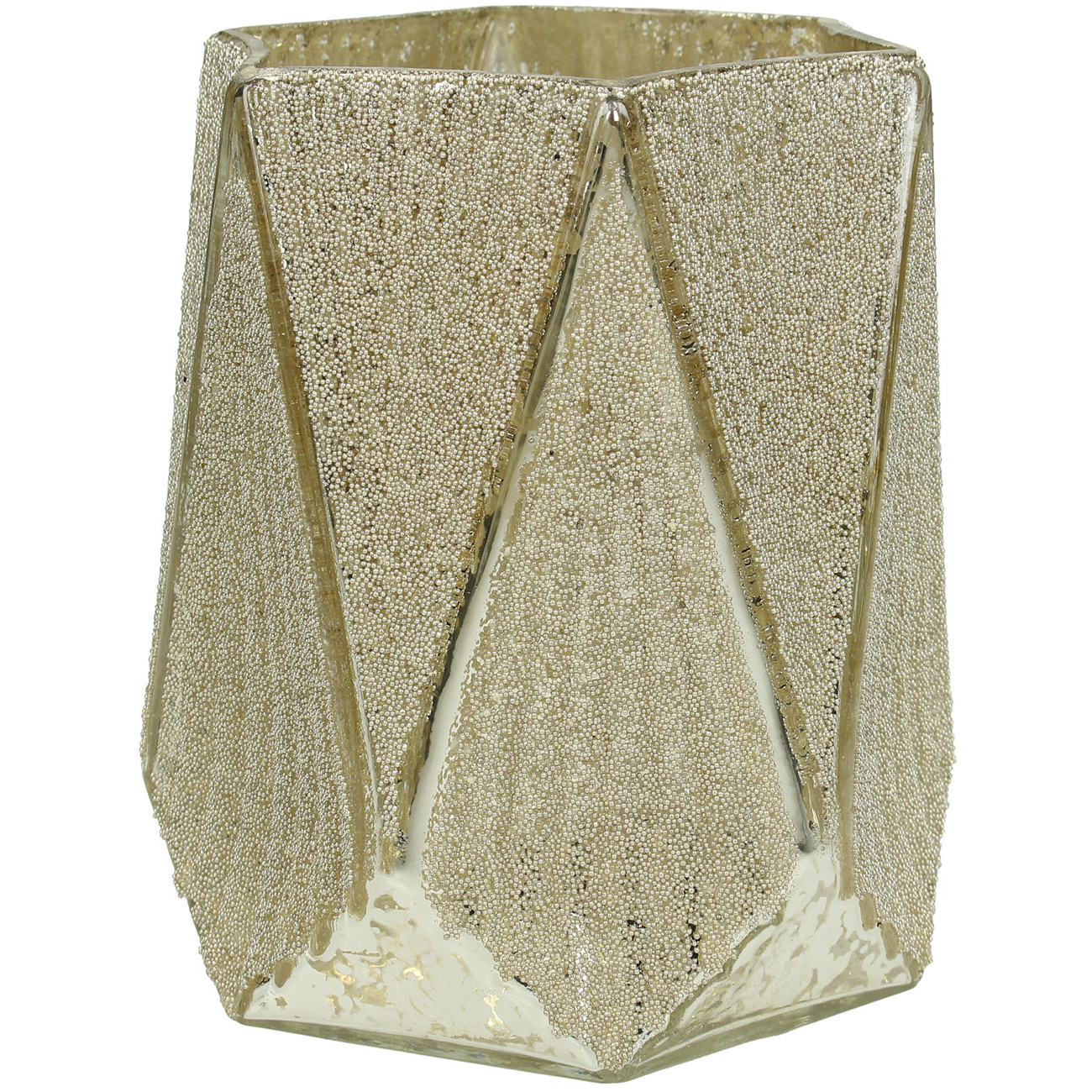 Faceted Gold Glass Votive Holder Large - Xmas-20 thumbnail