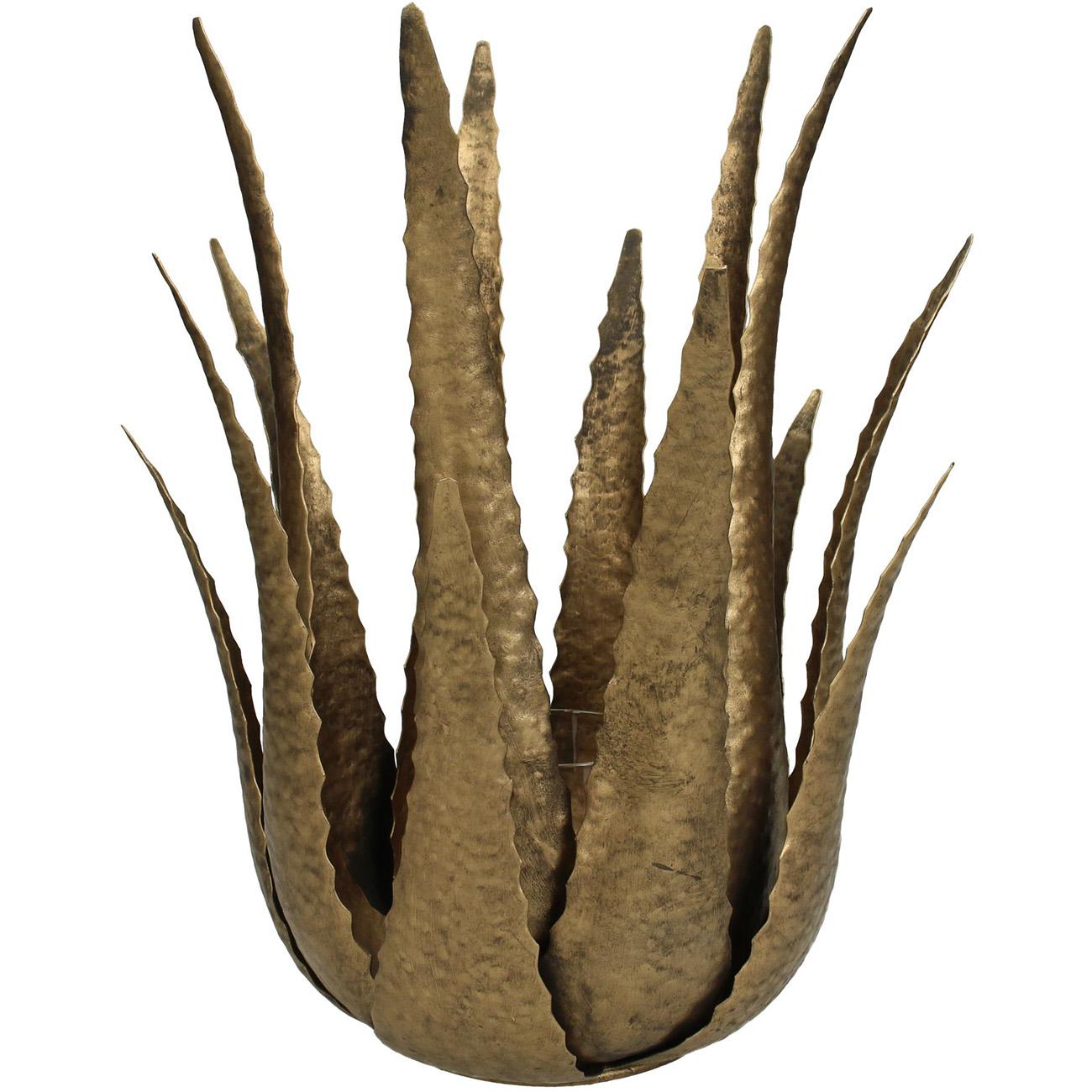 Gold Aloe Candle Holder Large - Xmas-20 thumbnail