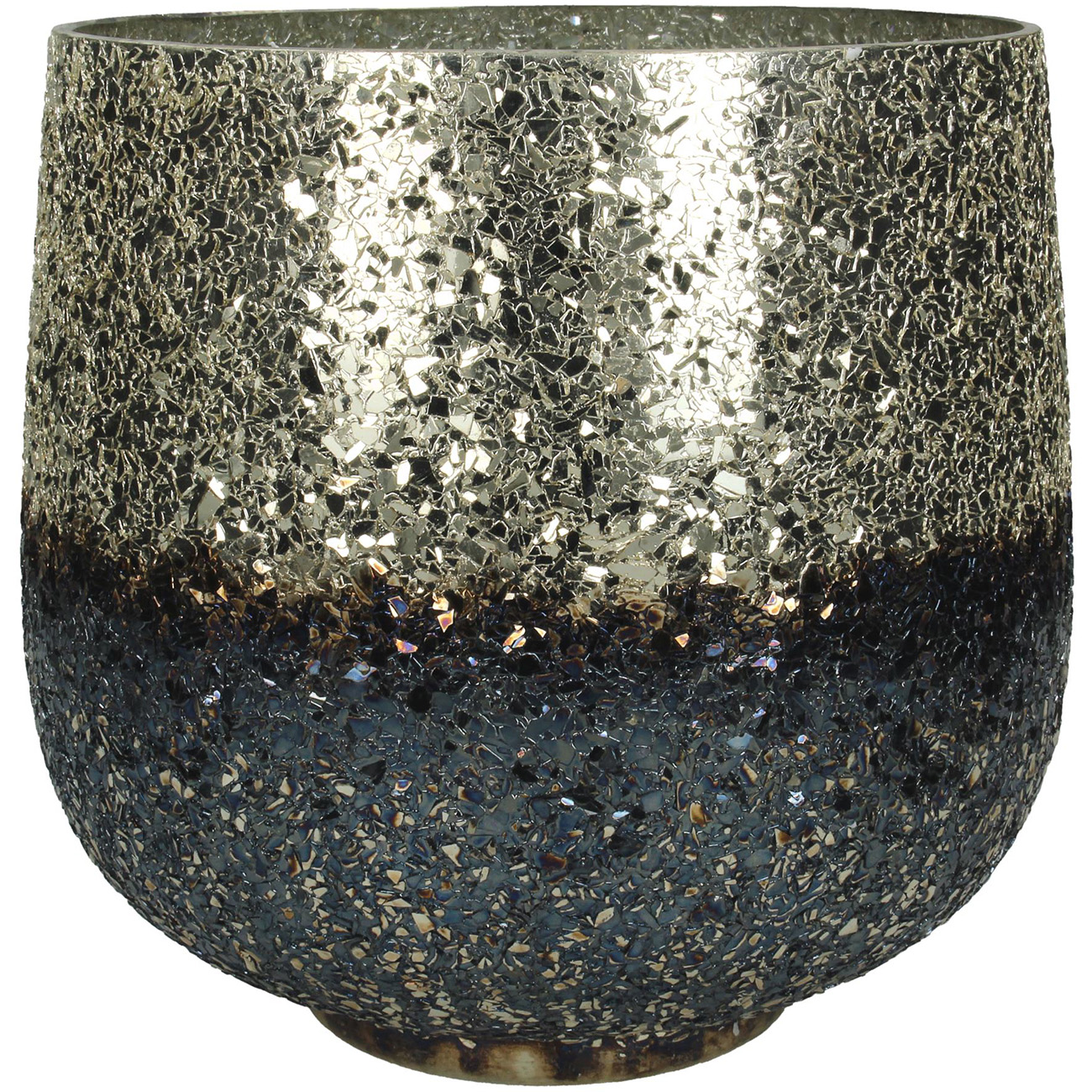 Burnished Silver Candle Holder Small - Xmas-20 thumbnail