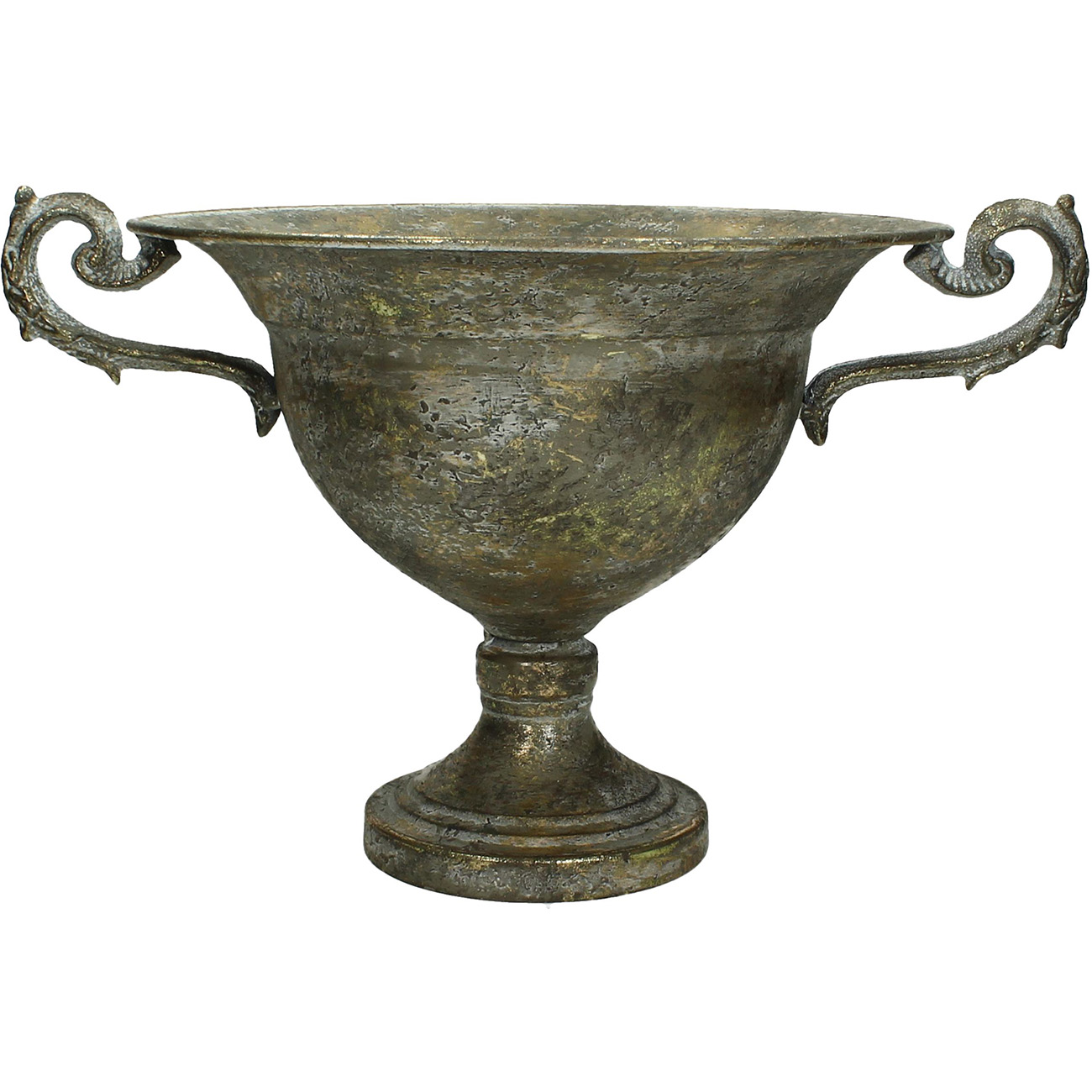 Champagne Metal Planter with Ornate Handle Small - Xmas-20 thumbnail