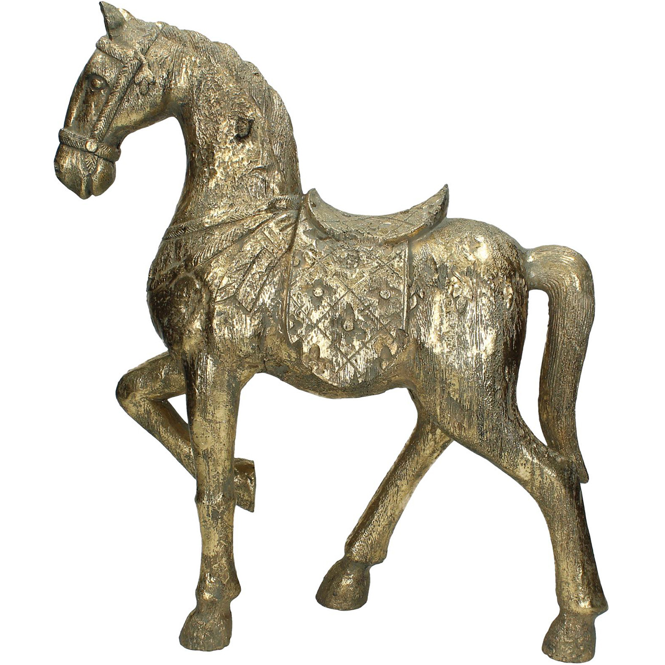 Gold Horse Sculpture - Xmas-20 thumbnail