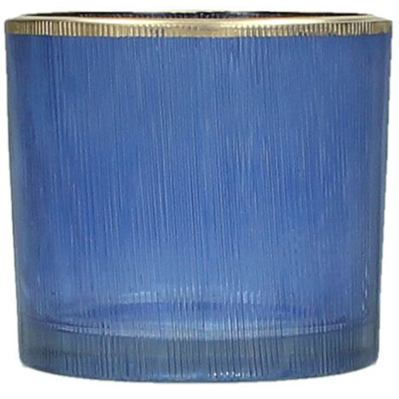 Blue Glass Tealight Holder - Xmas-20 thumbnail
