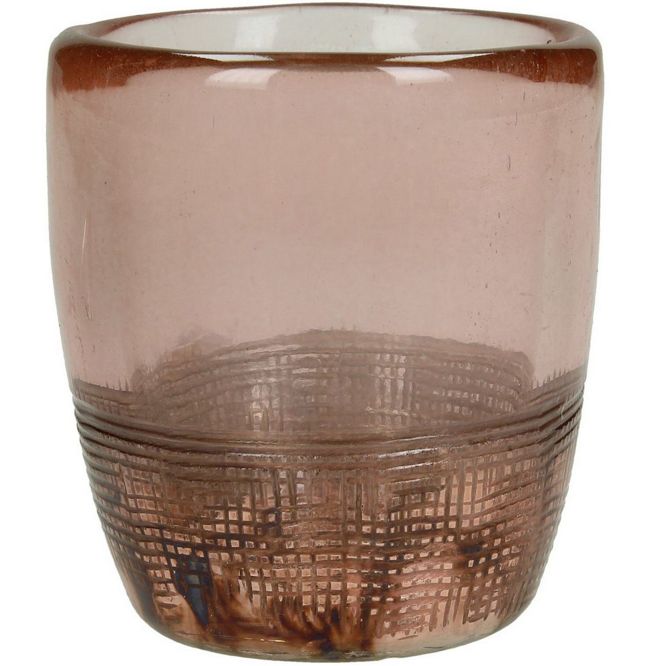 Blush Lustre Textured Glass Tealight Holder thumbnail