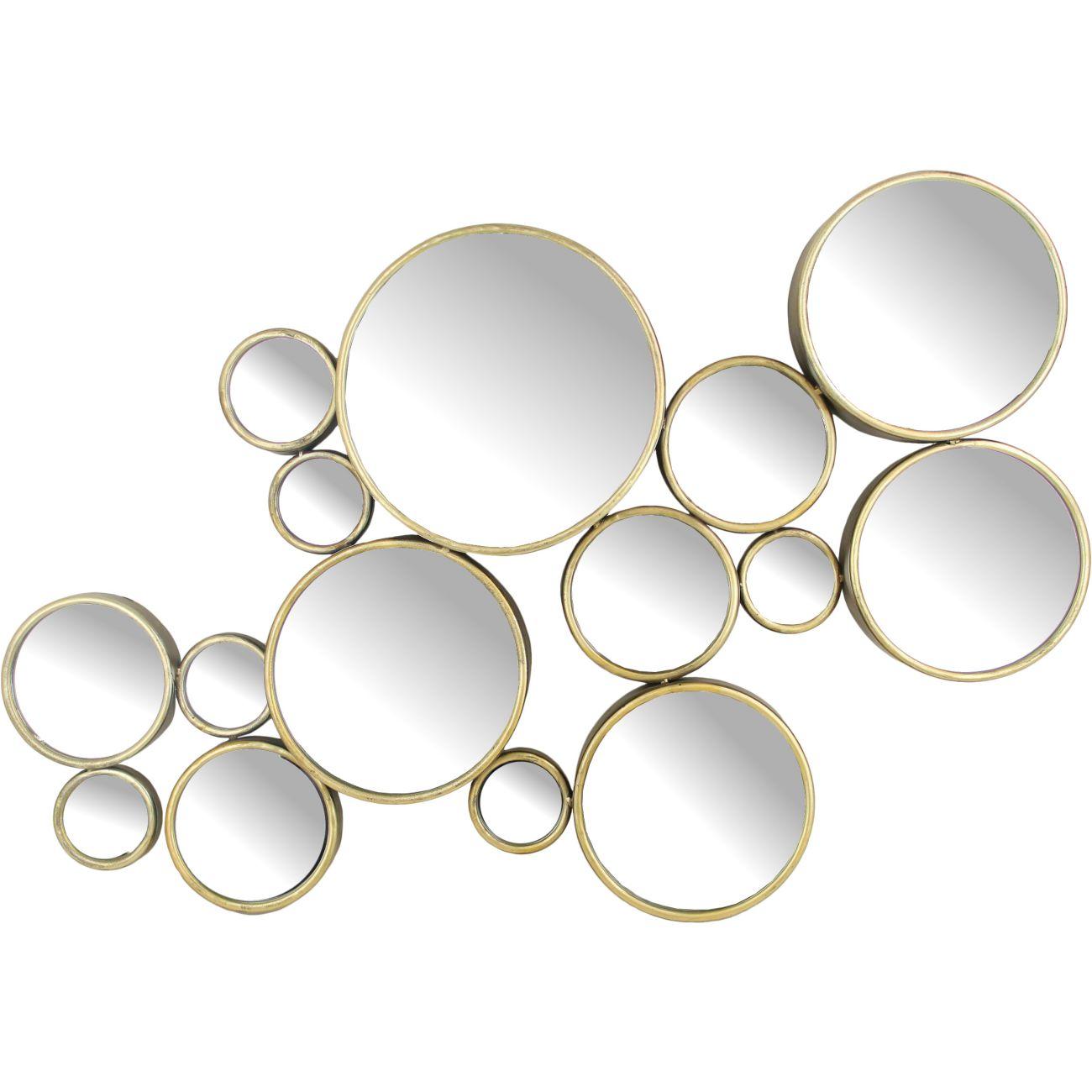 Bubbles Antique Gold Mirror thumbnail
