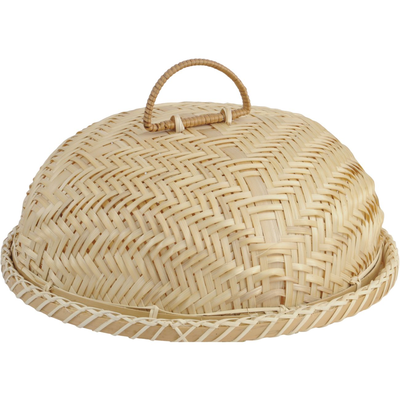 Natural Bamboo Domed Food Cover with Handle thumbnail