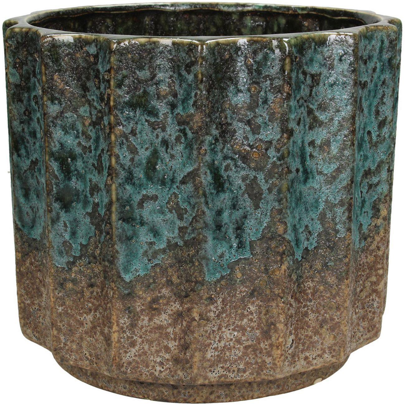 Nevis Mottled Blue Ceramic Planter thumbnail