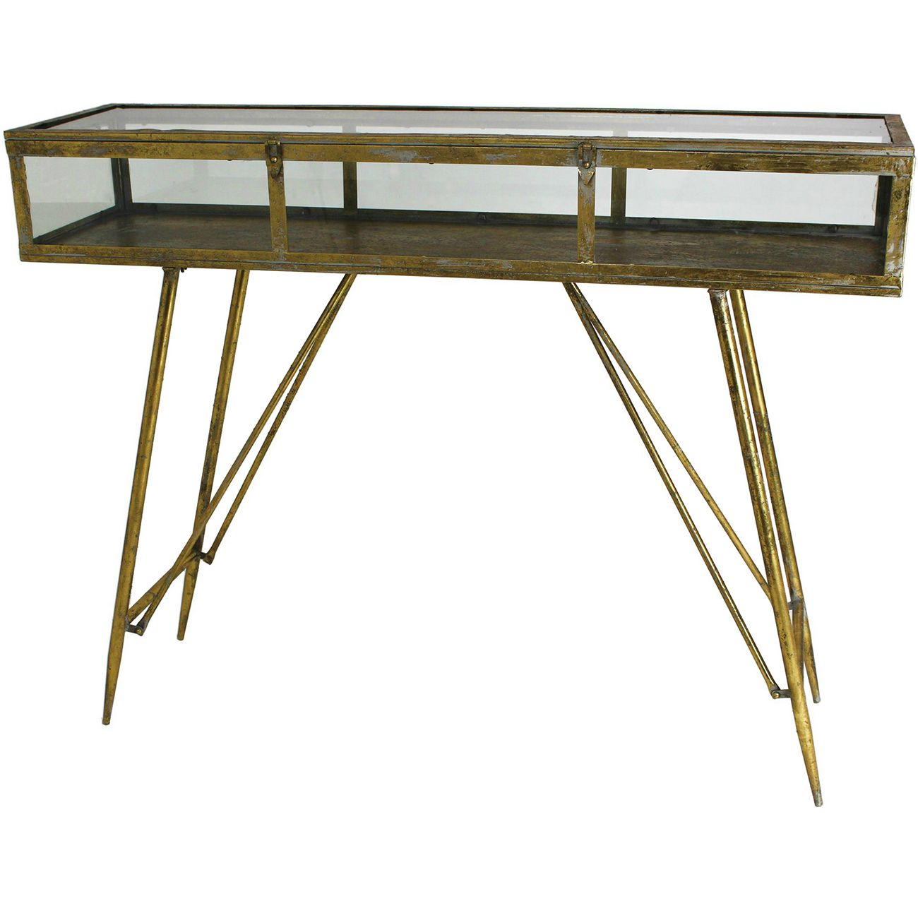 Cohan Console Table in Gold thumbnail