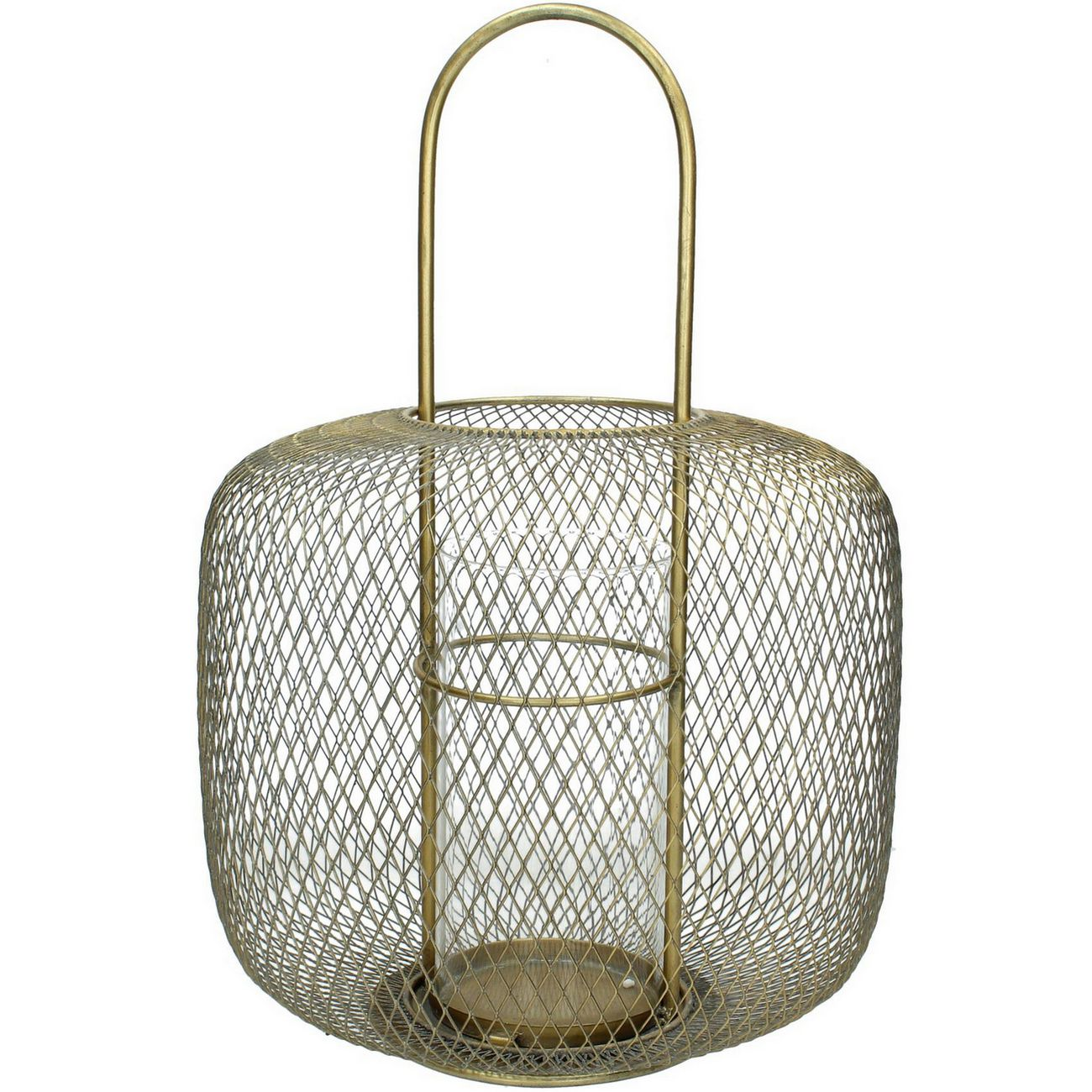Cage Lantern in Champagne Gold Finish thumbnail
