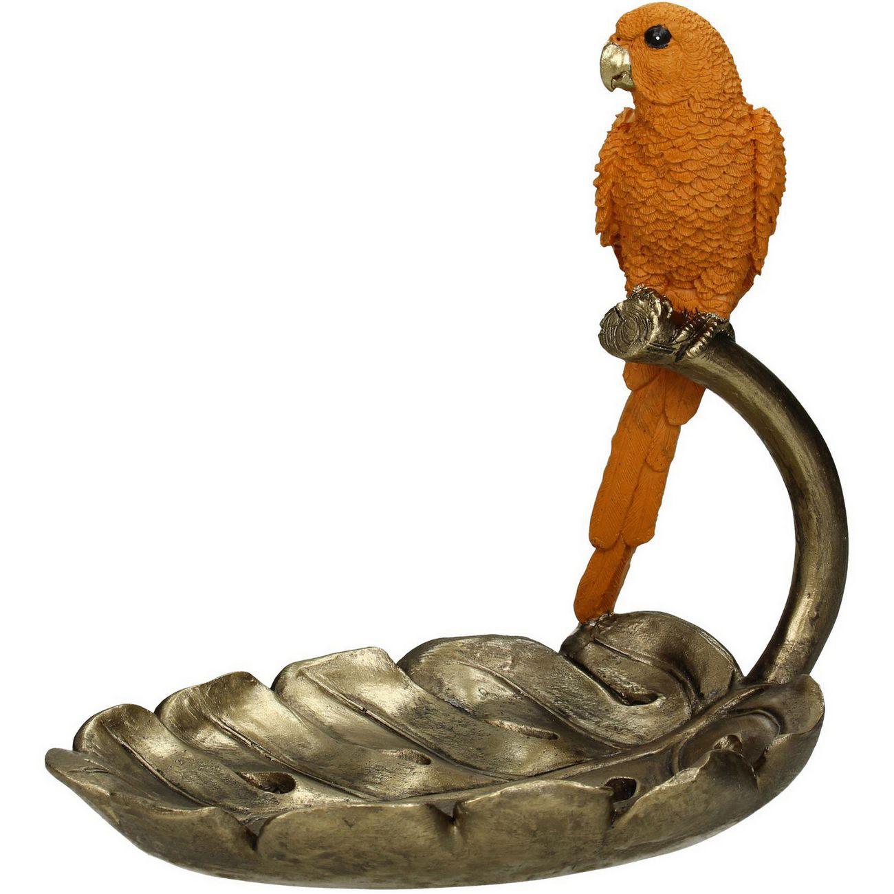 Carnaby Orange Resin Parrot Trinket Dish thumbnail