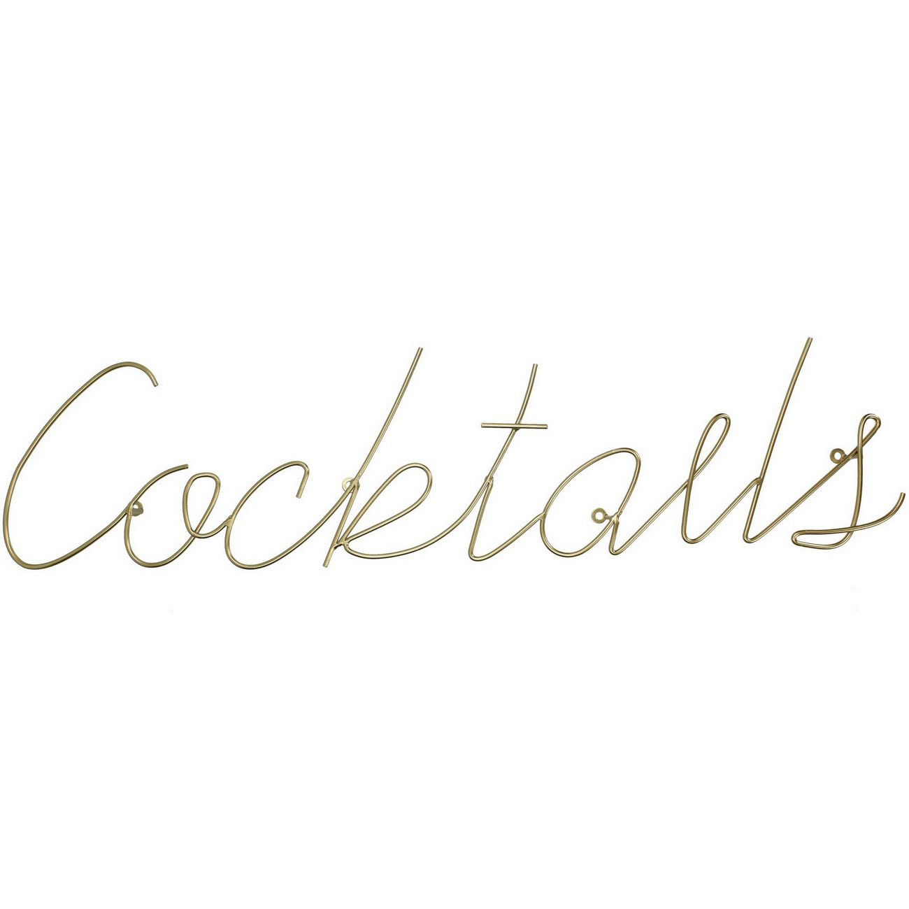 Cocktails Sign in Gold Finish thumbnail