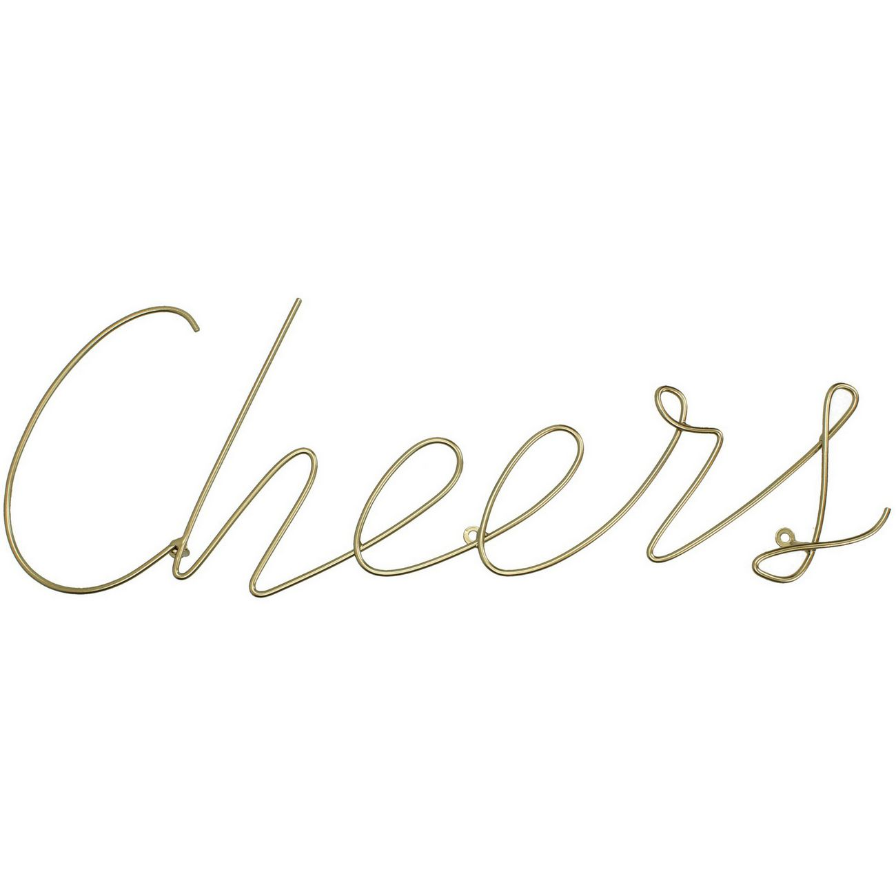 Cheers Sign in Gold Finish thumbnail