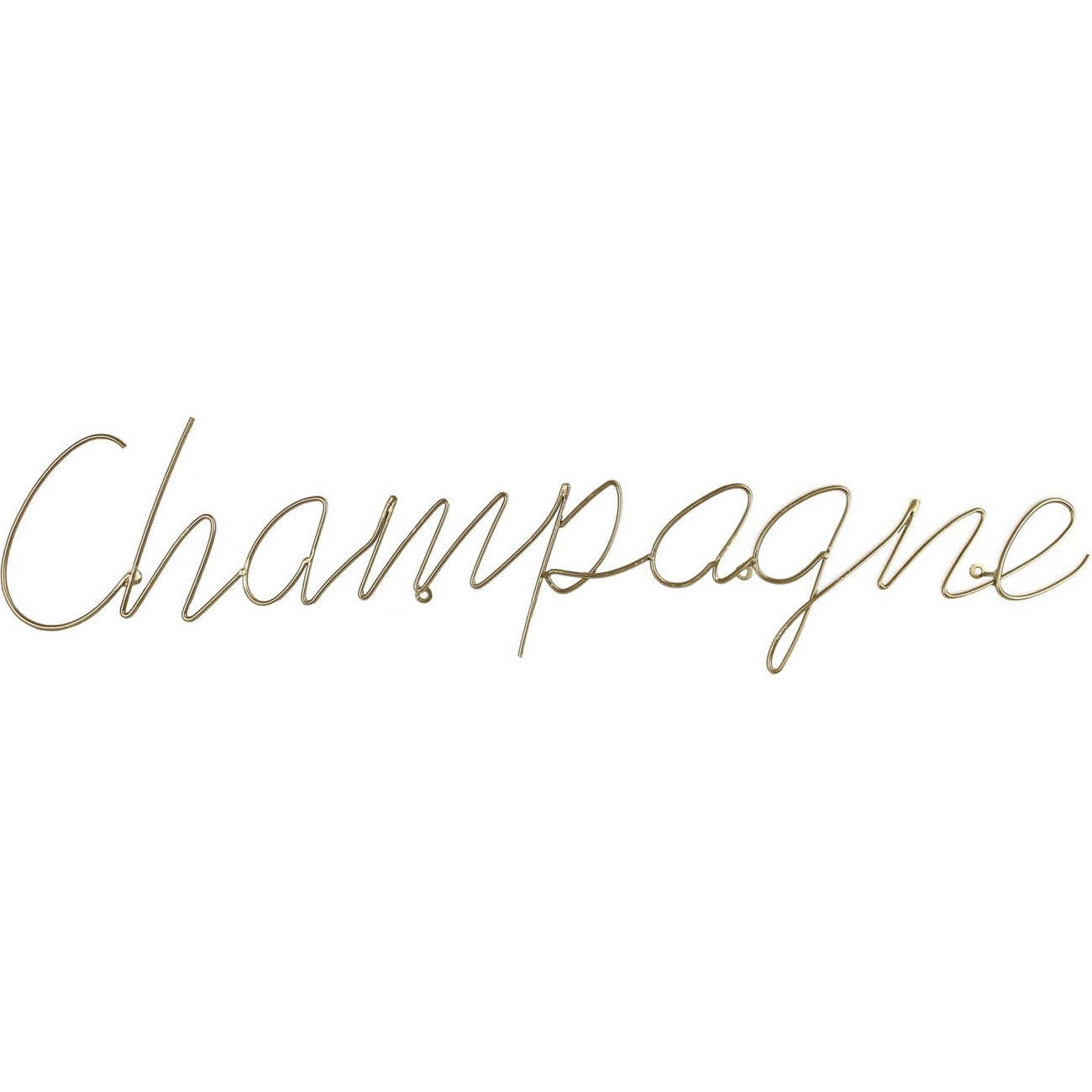 Champagne Sign in Gold Finish thumbnail