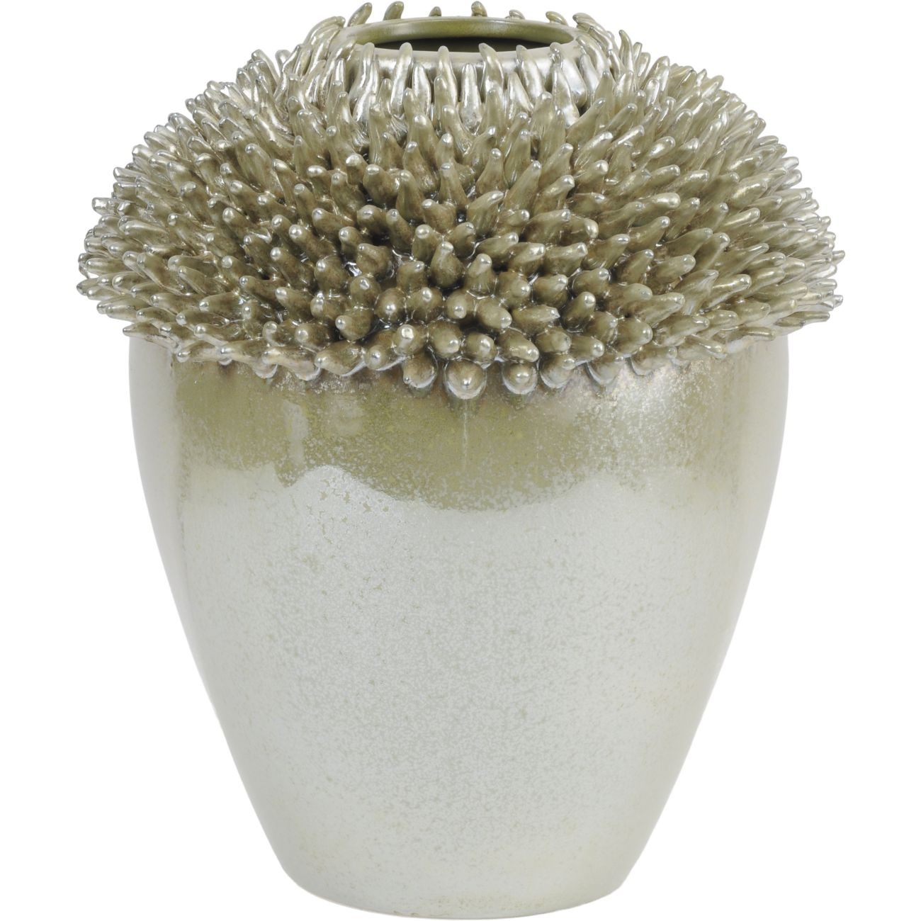 Fine Earthenware Vase in Green thumbnail