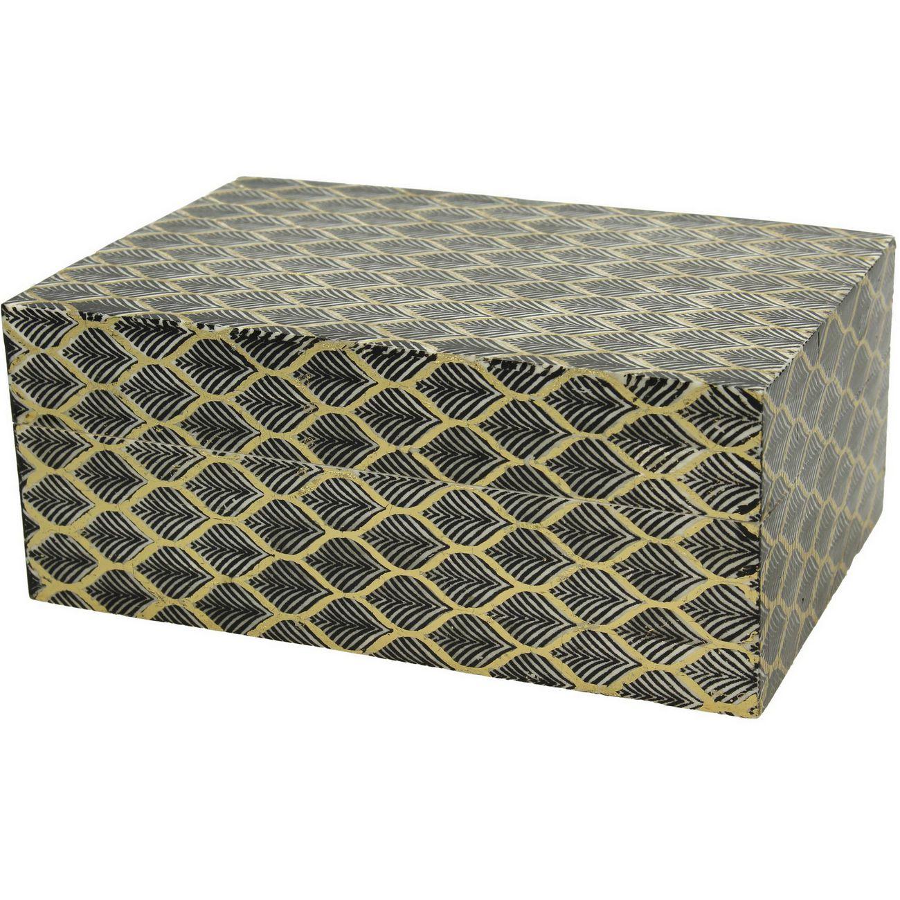 Lennox Buffalo Bone Box in Black thumbnail