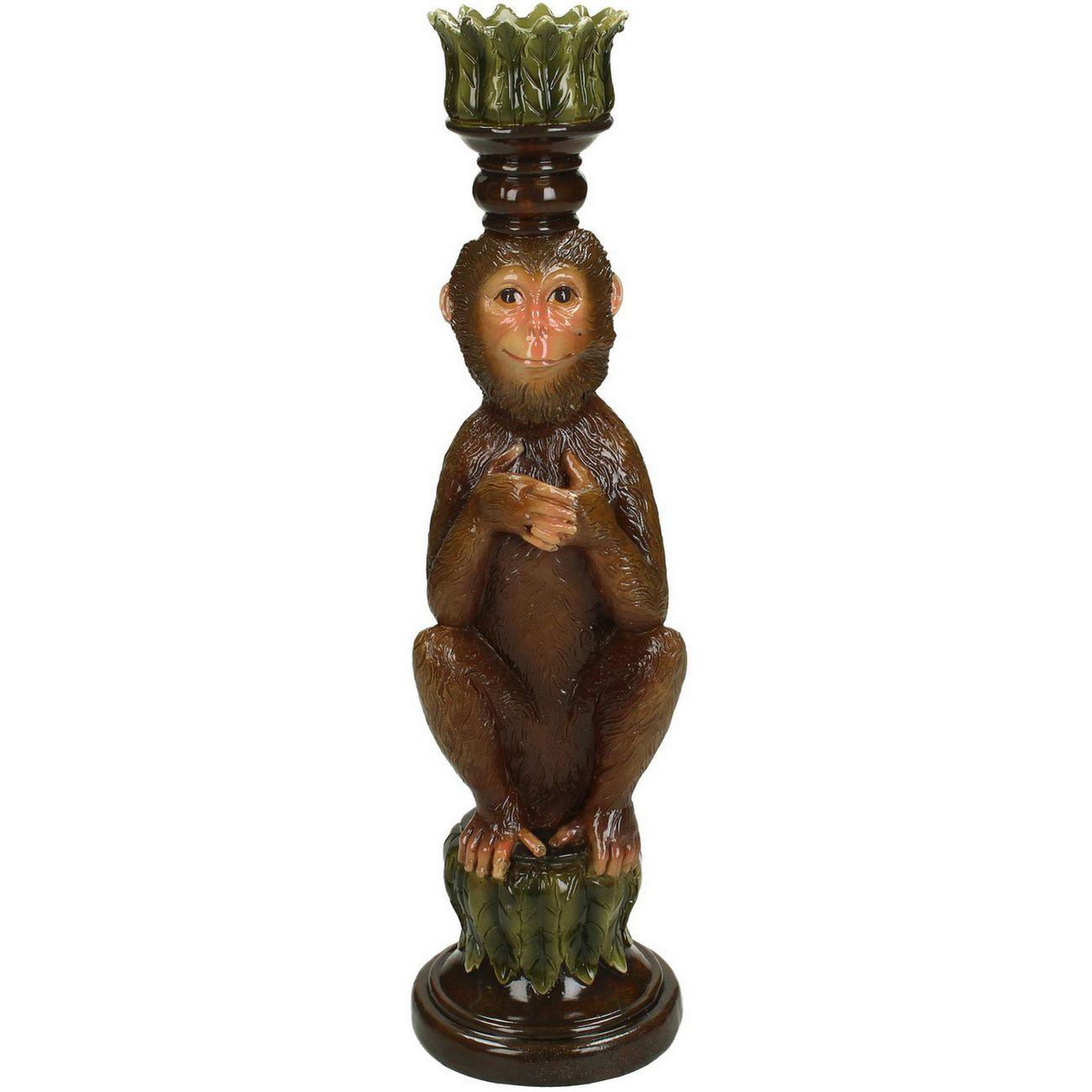 Monkey Resin Candlestick thumbnail