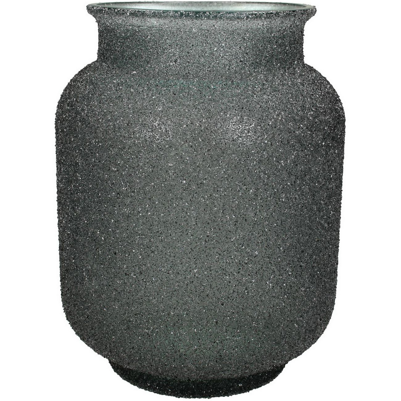 Adeline Grey Textured Glass Vase Small thumbnail