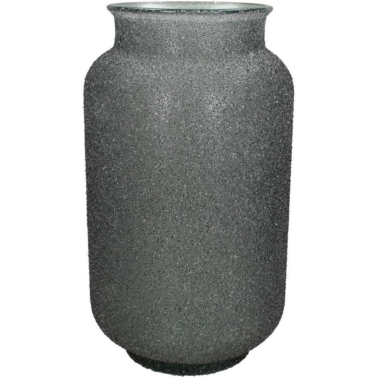 Adeline Grey Textured Glass Vase Medium thumbnail