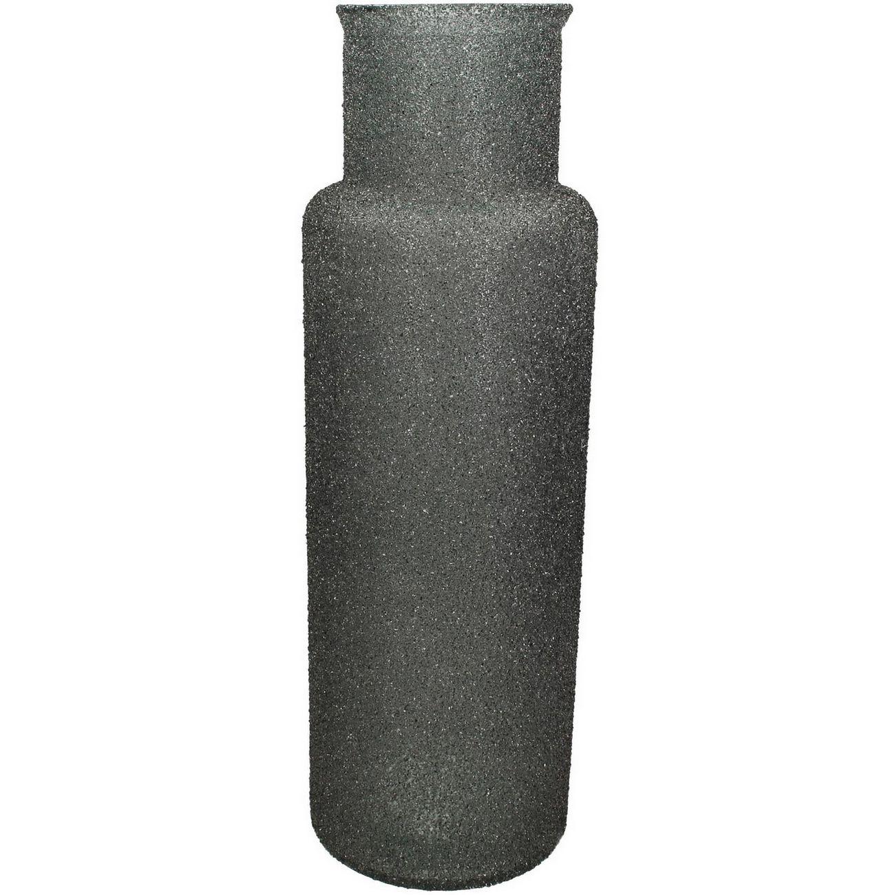 Adeline Grey Textured Glass Vase Large thumbnail