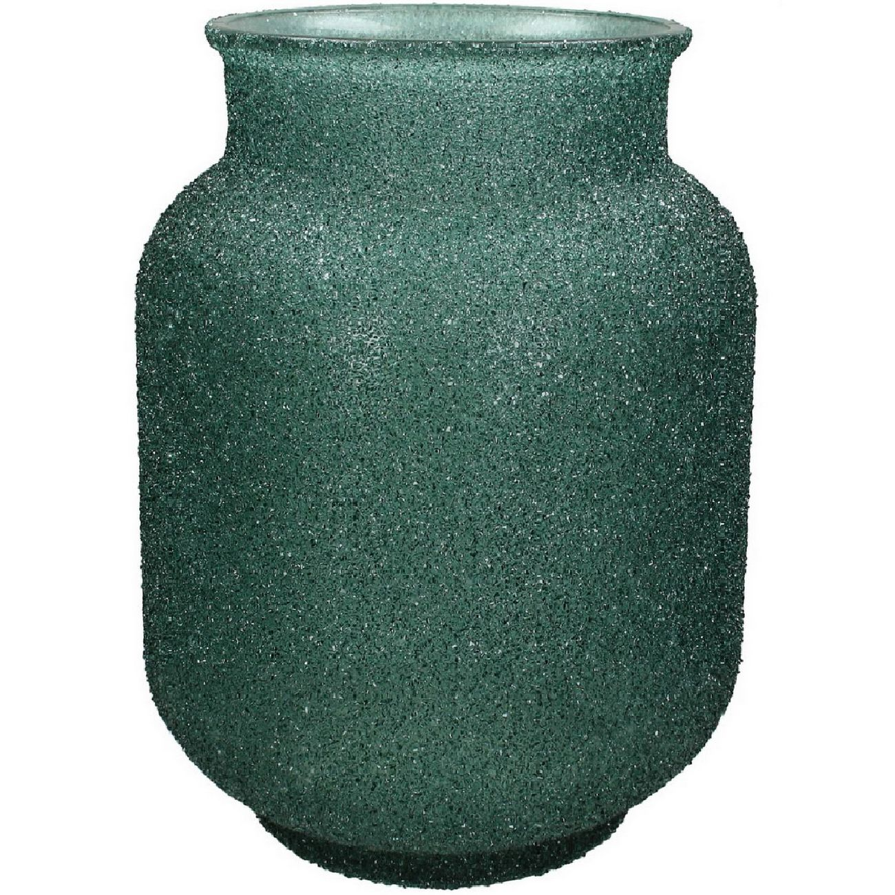 Adeline Green Textured Glass Vase Small thumbnail