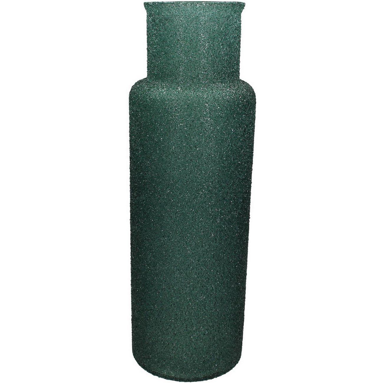 Adeline Green Textured Glass Vase Tall thumbnail