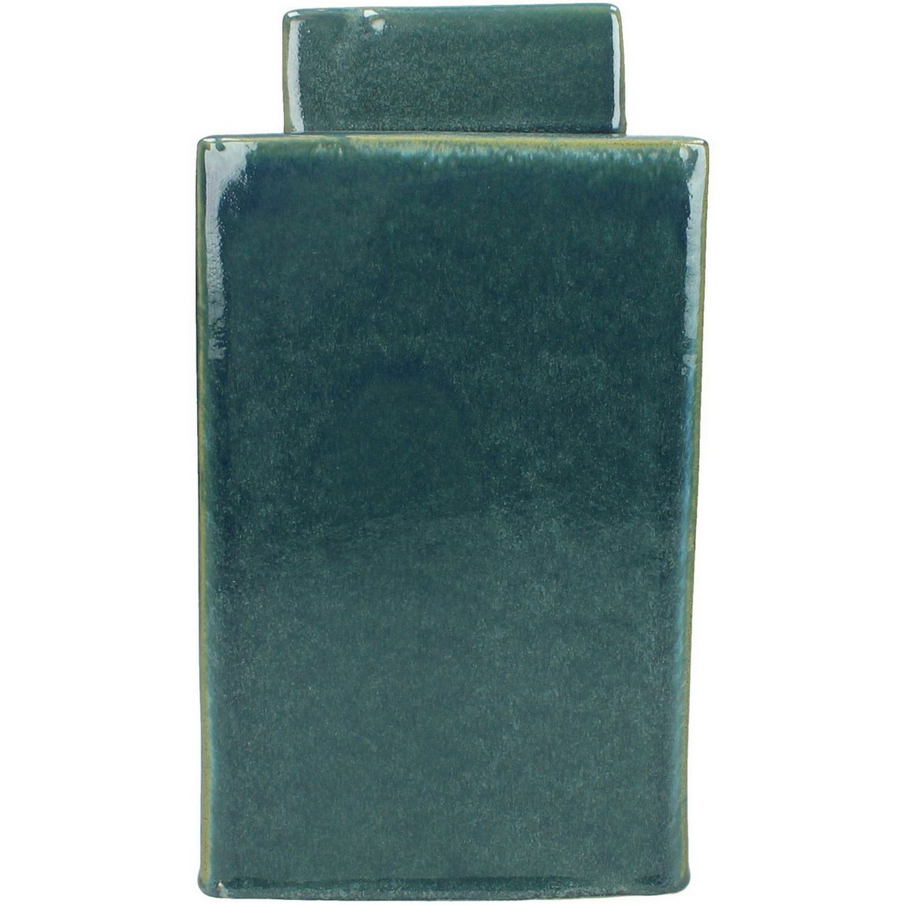Blue Stoneware Lidded Square Jar thumbnail