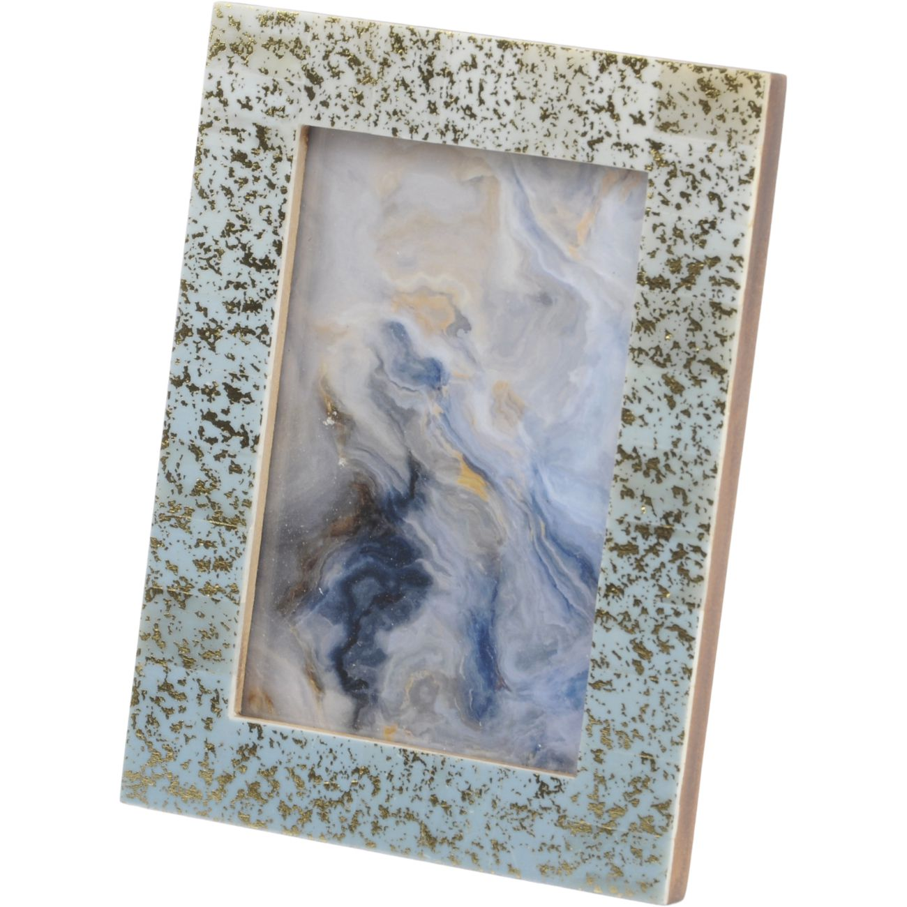Blue Bone Photo Frame with Gold Leaf Detail, 10 x 15cm thumbnail