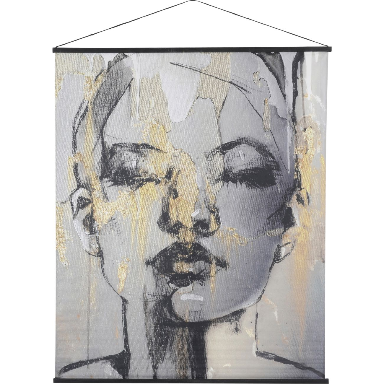Sketched Female Figure Velvet Hanging Wall Art, 140 x 170cm thumbnail