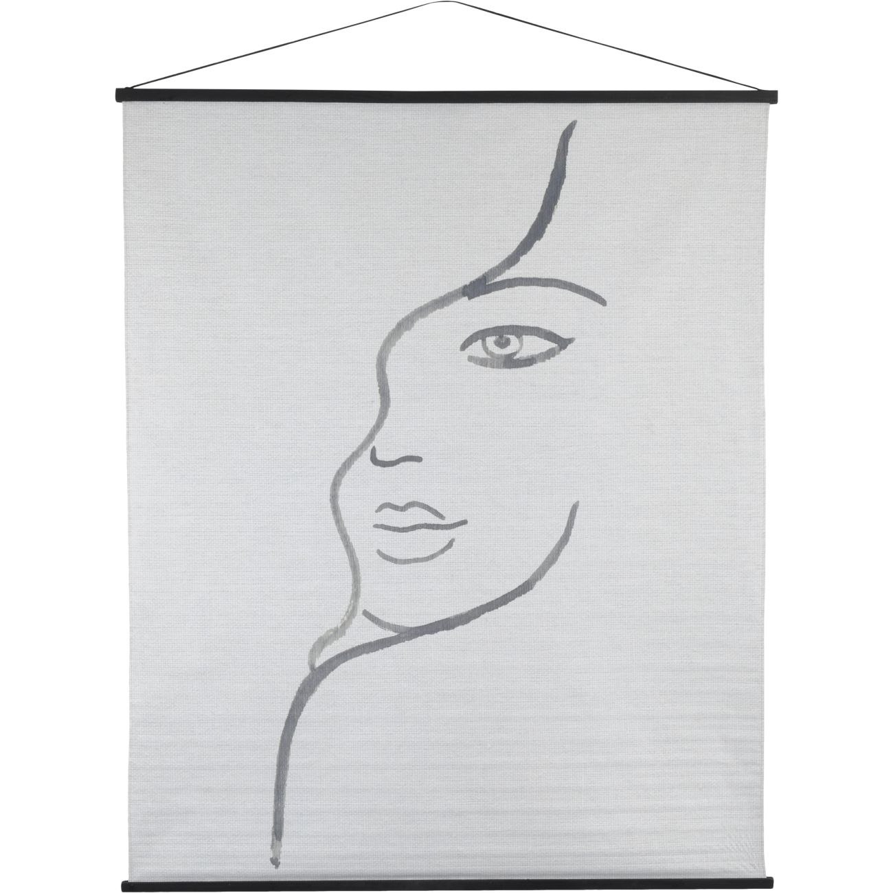 Brush and Ink Female Figure Cotton Hanging Wall Art, 140 x 170cm thumbnail