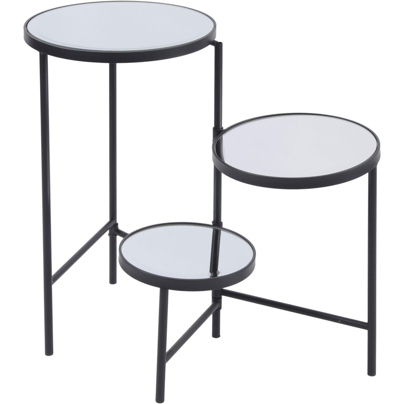Three Tiered Circular Black Side Table thumbnail