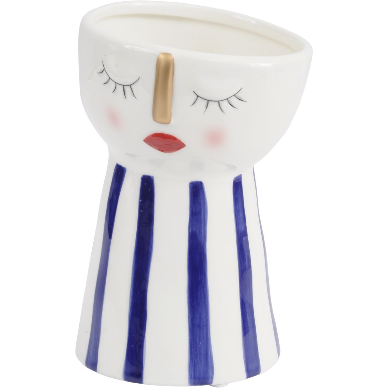 Dolomite Face Planter with Blue Stripes thumbnail