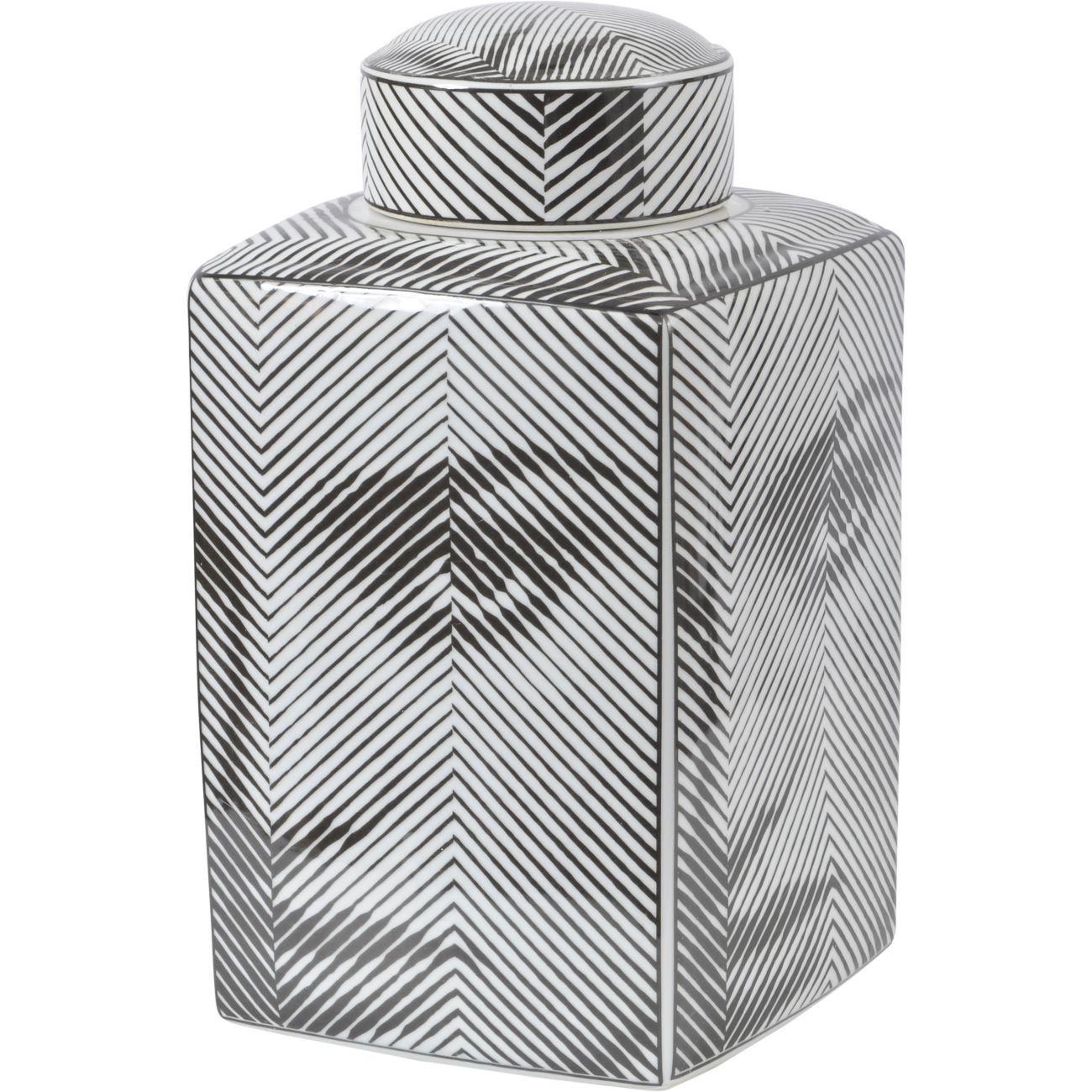 Fornasetti Style Porcelain Face Jar in Black, Large thumbnail