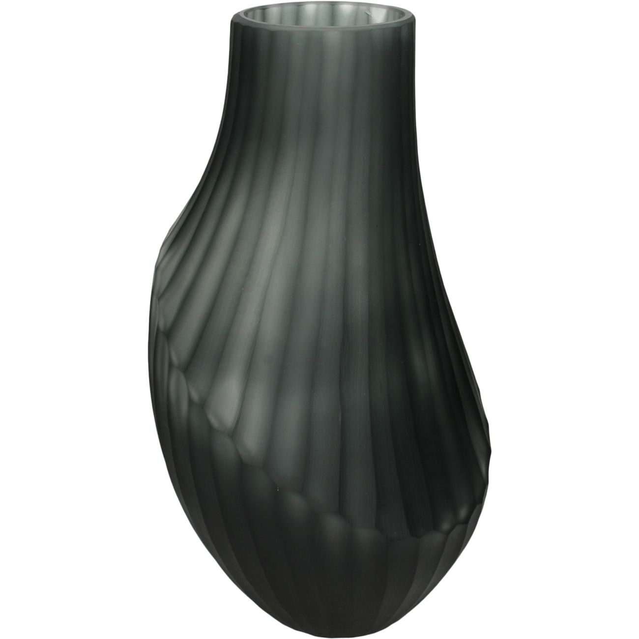 Monochrome Grey Black Etched Glass Vase thumbnail