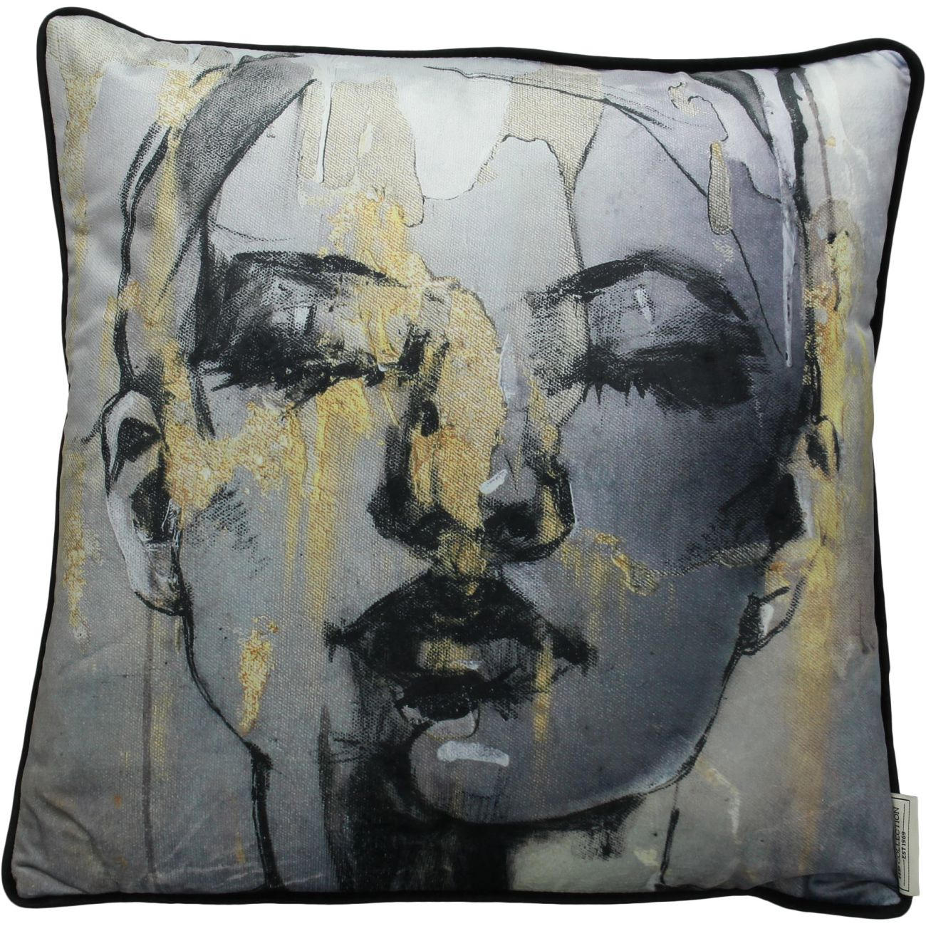 Sketched Female Figure Cushion, 45x45cm thumbnail