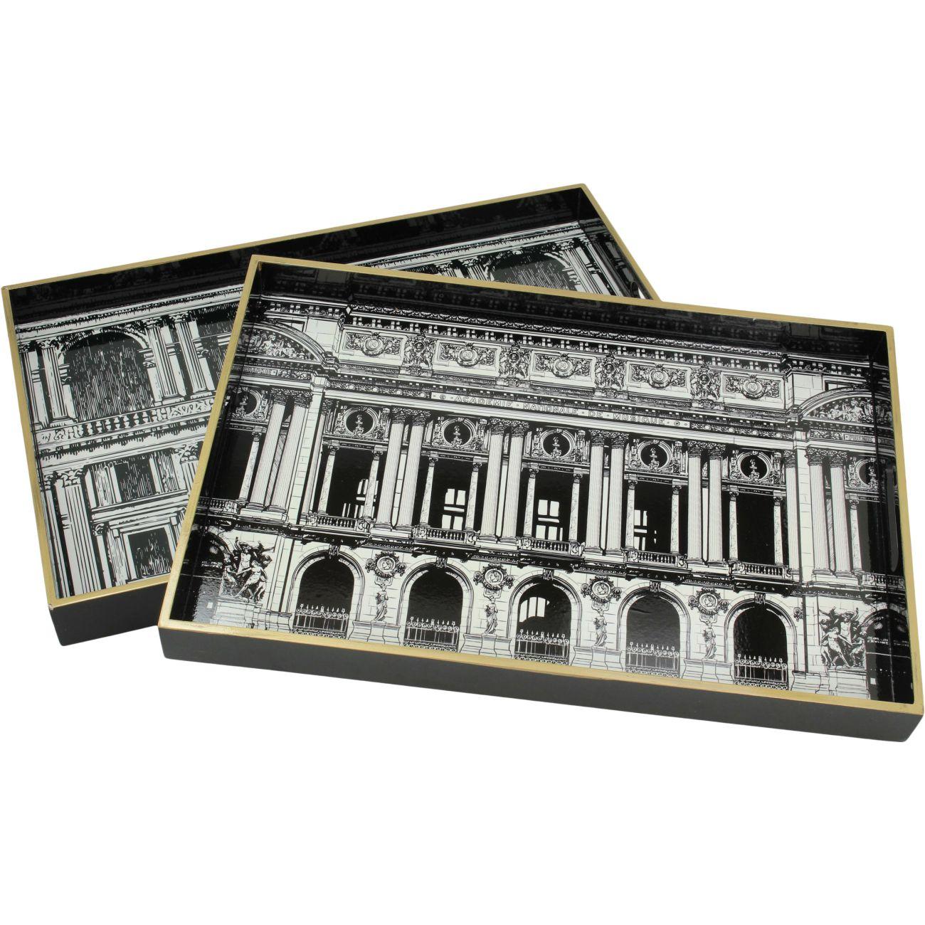 Architectural Set of 2 Rectangular trays thumbnail