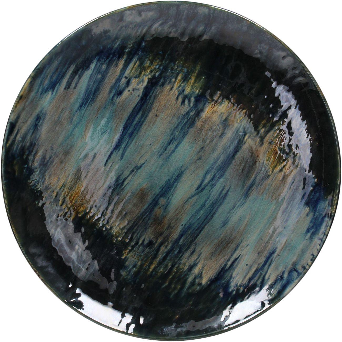 Santorini Blue Ceramic Platter, 47cm thumbnail