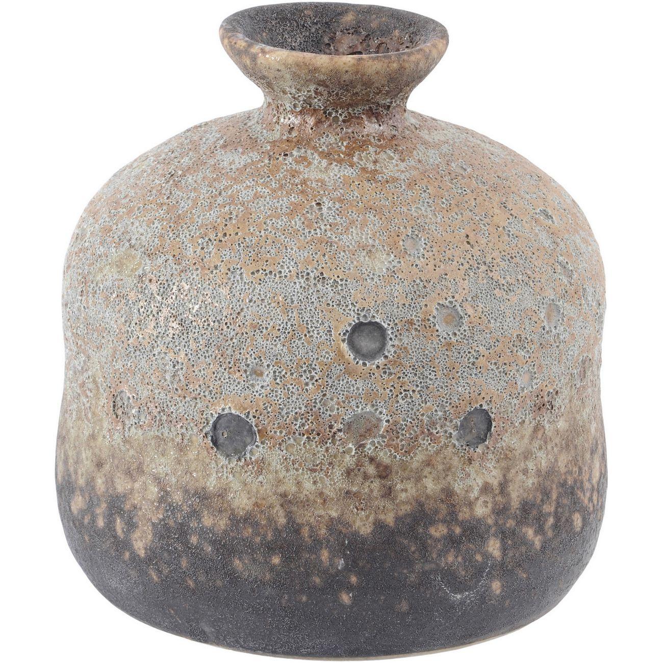 Ardina Mottled Brown Bottle Vase Small thumbnail