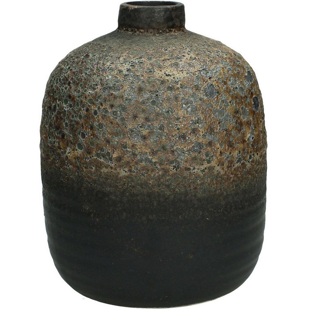 Ardina Mottled Brown Bottle Vase Large thumbnail