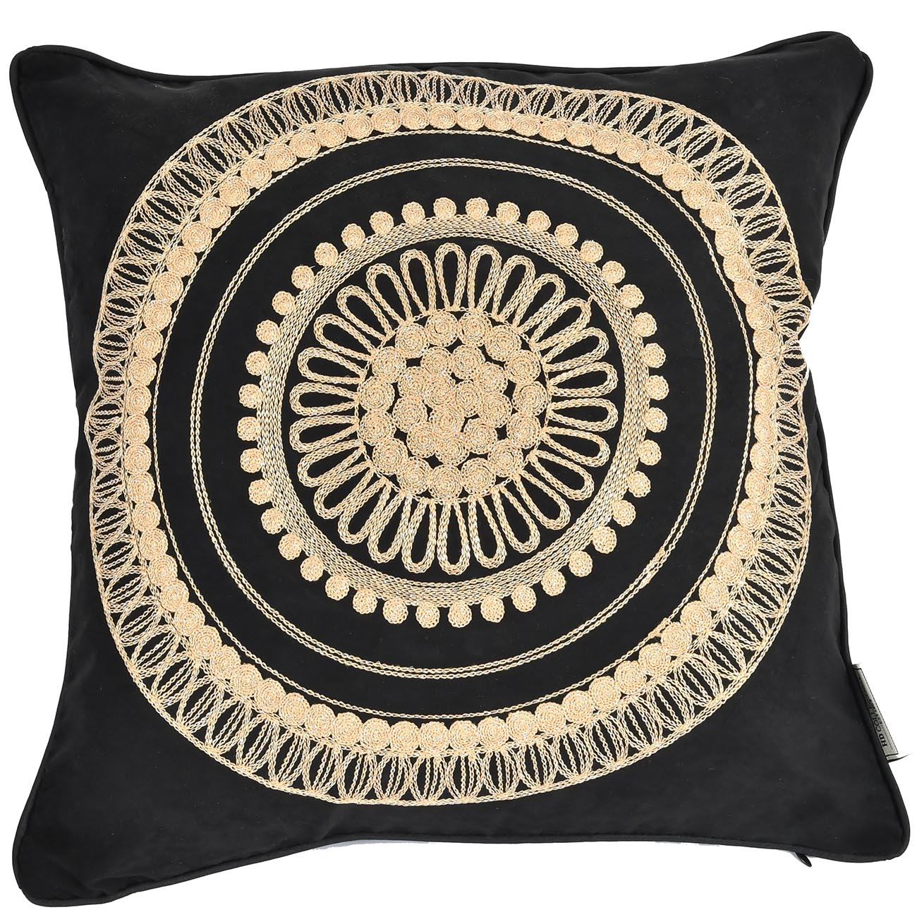 Cushion Cover Textile Black 45x45cm thumbnail