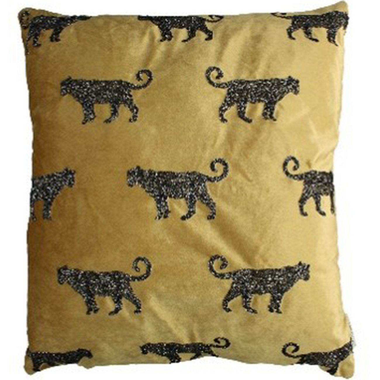 Cushion Cover Leopard Velvet Gold 60x60cm thumbnail