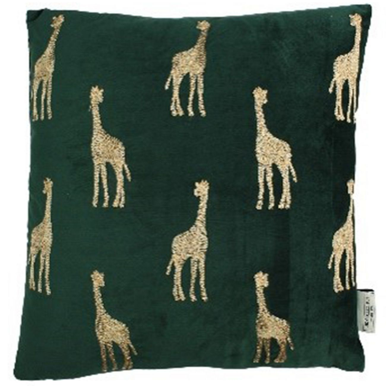 Cushion Giraffe Velvet Green 45x45cm thumbnail