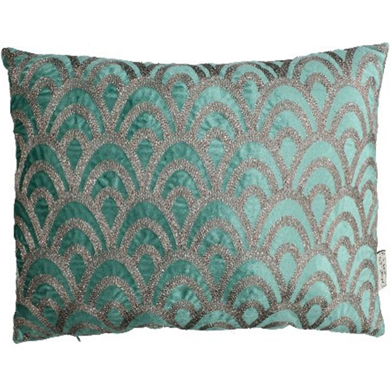 Cushion Cover Velvet Green 40x60cm thumbnail