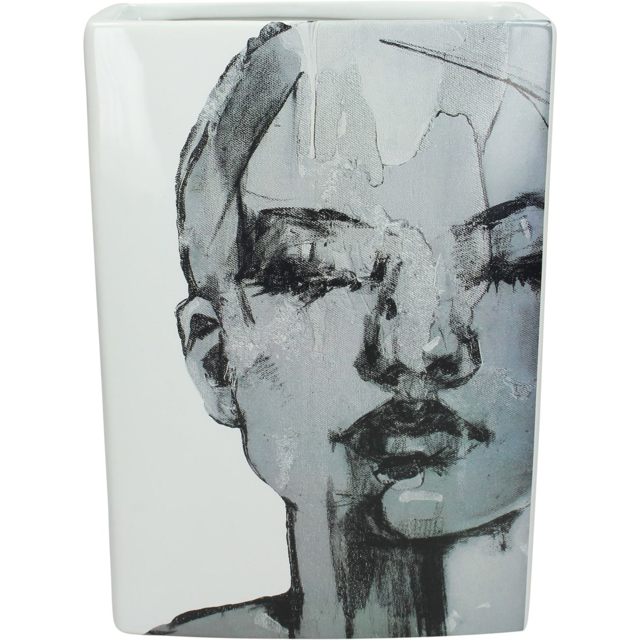 Sketched Female Ceramic Vase, 21x29cm thumbnail