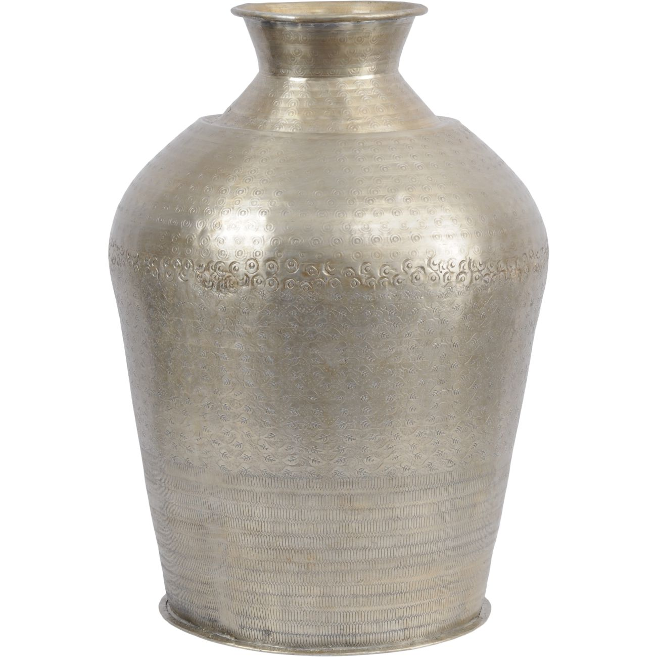Metal Bottle Vase with Gold Finish thumbnail